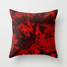 Marble-Red Throw Pillow