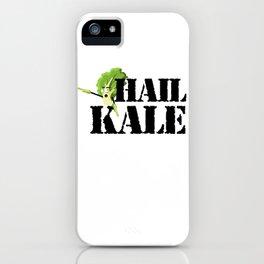 Hail Kale Kale Art for Vegans Vegetarians on Diet Light iPhone Case