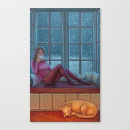 Cozy Evening Canvas Print