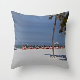 A November Day At Clearwater Beach Throw Pillow
