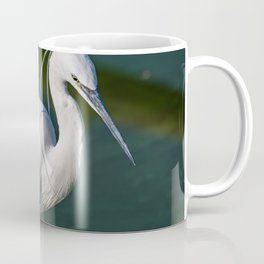 Portrait of Egretta Garzetta in water Coffee Mug