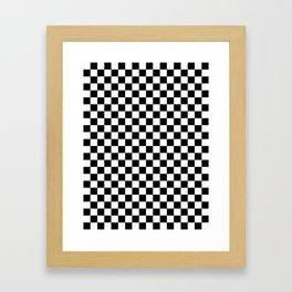 Small Checkered - White and Black Framed Art Print