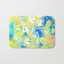 Abstract Dice Digital Art Bath Mat
