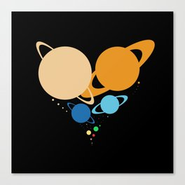 Solar System Heart (to scale) Canvas Print