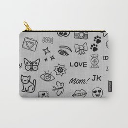 Doodle Collage Carry-All Pouch