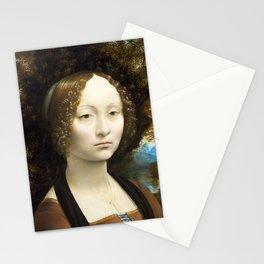 Leonardo da Vinci, Portrait of Ginevra Benci, 1474 Stationery Cards