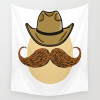 cowboy Wall Tapestries featuring Cowboy Egg by JDHicks