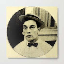 Buster Keaton Metal Print