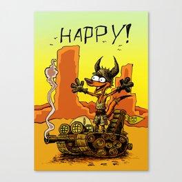 HAPPY! Canvas Print