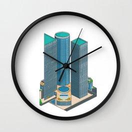 Tel Aviv Pixel Art Collection 1 Wall Clock