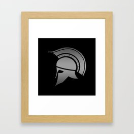 Ancient Greek Spartan Helmet Framed Art Print