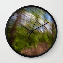 Abstract Forest Streaks Wall Clock