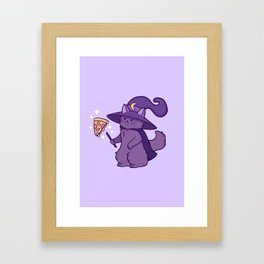 Kitty Wizard Framed Art Print
