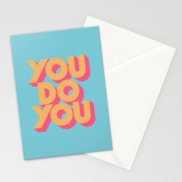 You Do You Retro Blue Stationery Cards