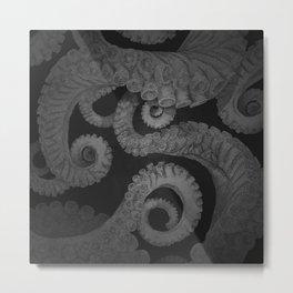 Octopus BW. Metal Print