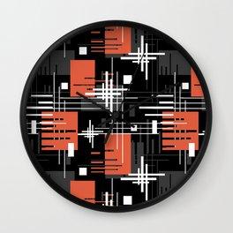 Abstract , retro 4 Wall Clock
