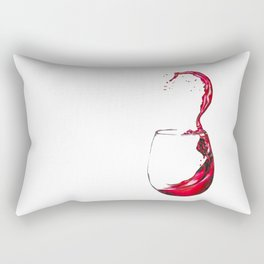 Wine Glass Rectangular Pillow