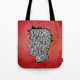 Typography Tyler Durden Uncensored Tote Bag