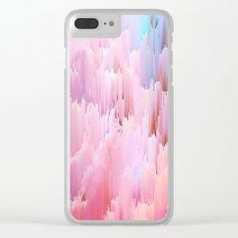 Delicate Glitches Clear iPhone Case