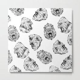 Gorilla seamless Metal Print