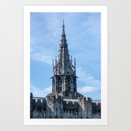 Gothic Tower on Cardiff Castle in Wales United Kingdom Art Print