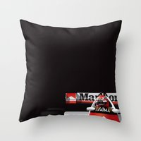 Niki Lauda, McLaren MP4/2 TAG Porsche, 1984 Throw Pillow