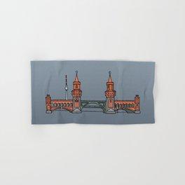 Oberbaum Bridge in Berlin Hand & Bath Towel
