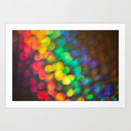 Rainbow Bokeh 1 Art Print