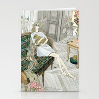 puppies Stationery Cards featuring Two Puppies by Yuliya