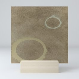 Two Circles - Modern Art - Abstract - California Cool - Popular Painterly - Law Of Attraction Mini Art Print