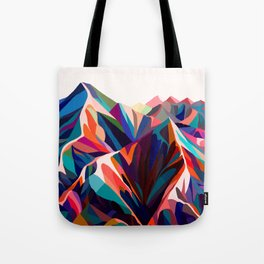 Mountains sunset warm Tote Bag