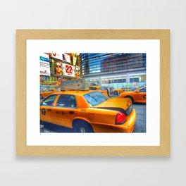 Yellow Cab Framed Art Print