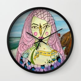 Love Deep Like The Sea Wall Clock