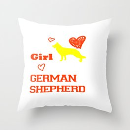 This Girl Loves Her German Shepherd Dog Breed Puppy Throw Pillow