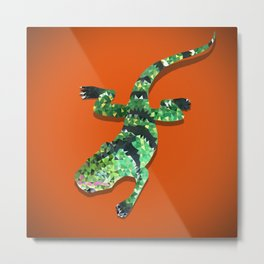 Iguana Techy Art Metal Print