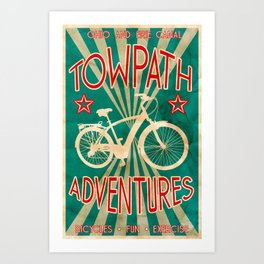 TOWPATH ADVENTURES Art Print