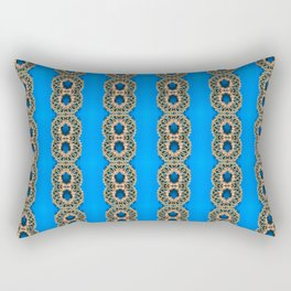 Beautiful Blue Beadwork Inspired Fashion Print Rectangular Pillow