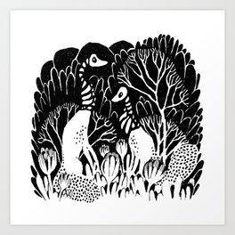 Skeletal Trees Art Print