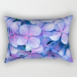 Hydrangea Flowers : Periwinkle Blue Lavender Pink Rectangular Pillow