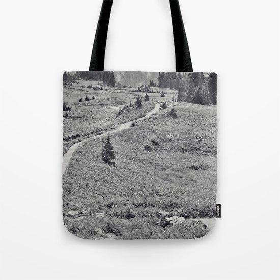 Trail B&W Tote Bag