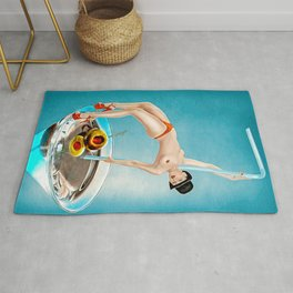Girl in Cocktail Rug