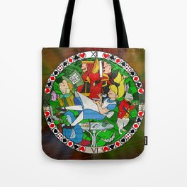 Alice Through the Stained Glass Tote Bag