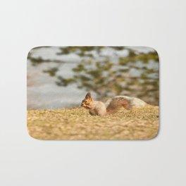 Squirrel's Lunch Break #decor #society6 Bath Mat