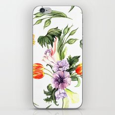 Watercolor spring floral pattern iPhone & iPod Skin