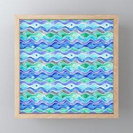 Ocean Pattern - Dolphin Framed Mini Art Print
