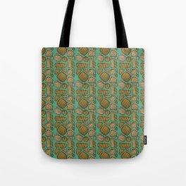 Mid century ochre Tote Bag
