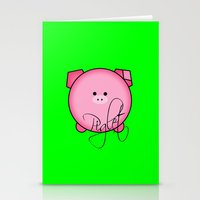 piglet Stationery Cards featuring Piglet by Miaa