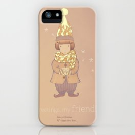 Christmas creatures- The Visiting Friend iPhone Case