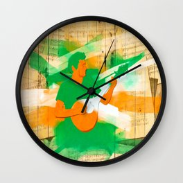 Irish Music Warmly Remembered Wall Clock
