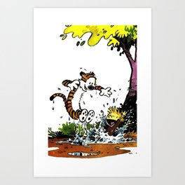 calvin hobbes funny Art Print